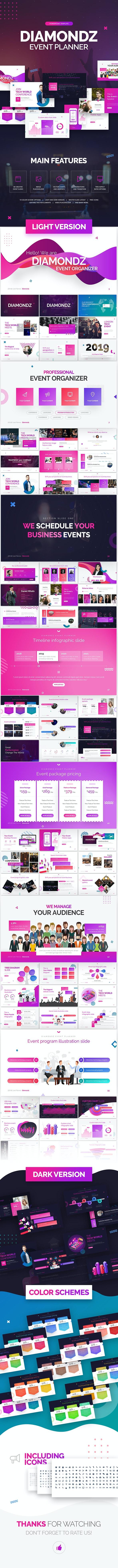 Diamondz Event Planner PowerPoint Template - PowerPoint Templates Presentation Templates
