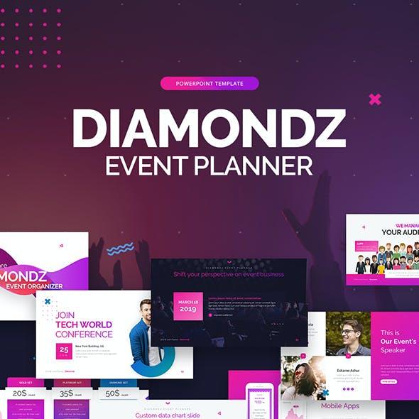 Diamondz Event Planner PowerPoint Template