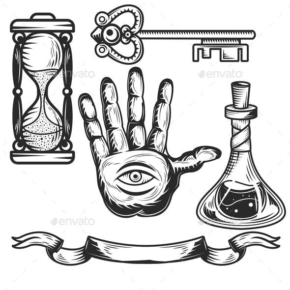 Set of Alchemy Elements - Miscellaneous Vectors