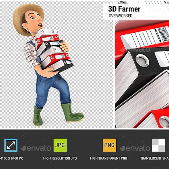 3D Farmer Overworked