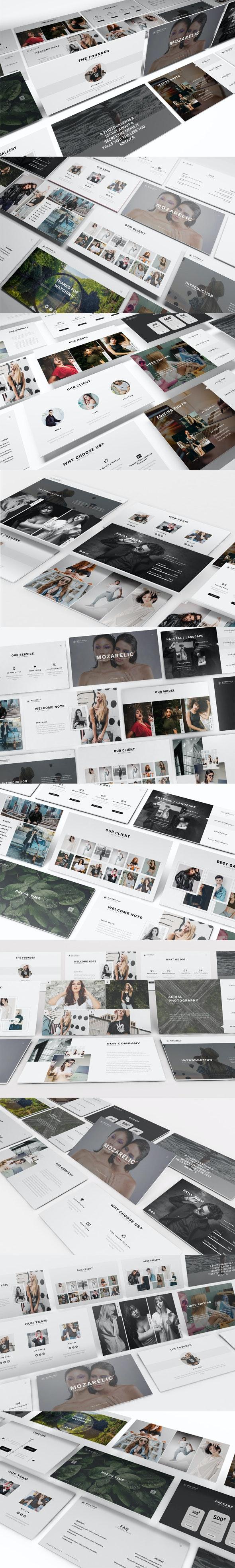 Mozarelic Photography Powerpoint Template - Presentation Templates