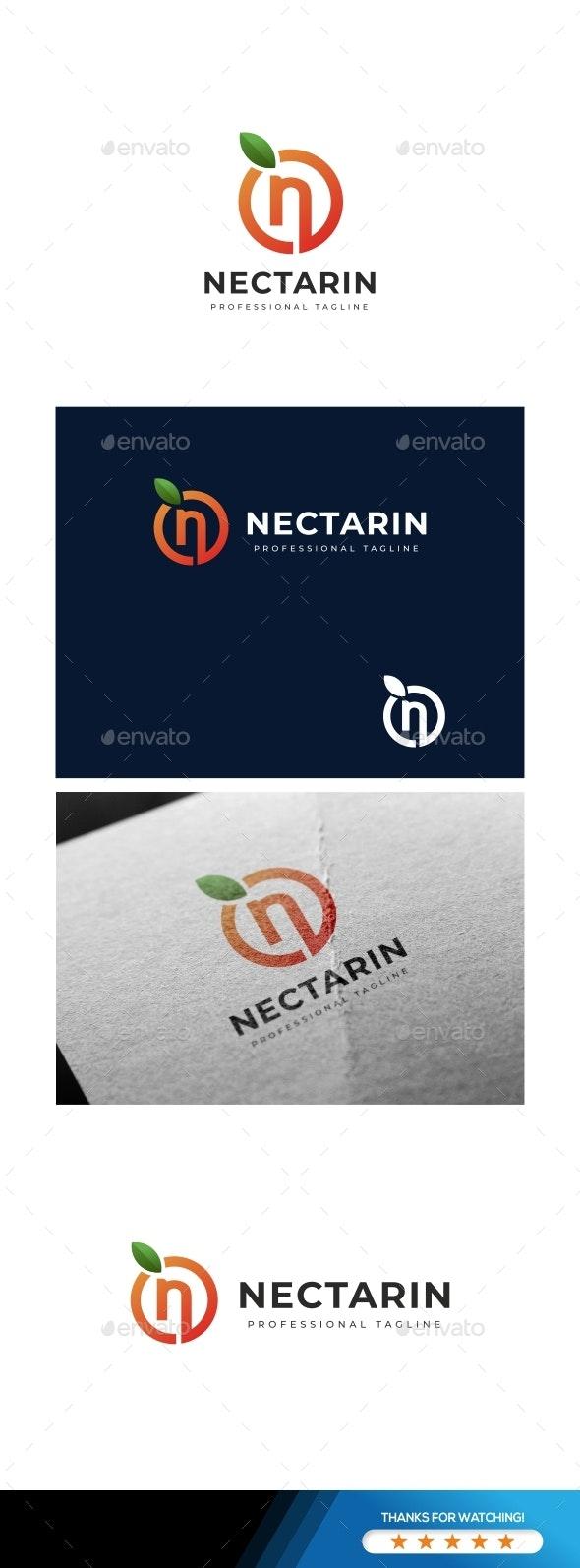 Letter N - Nectarin Logo - Letters Logo Templates