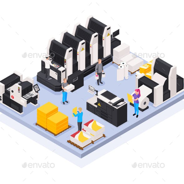 Printing House Concept
