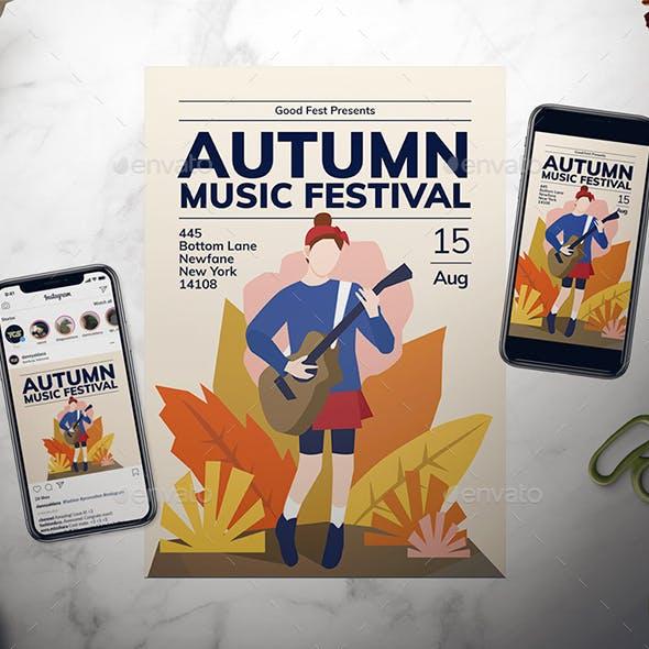 Autumn Music Festival Flyer Set