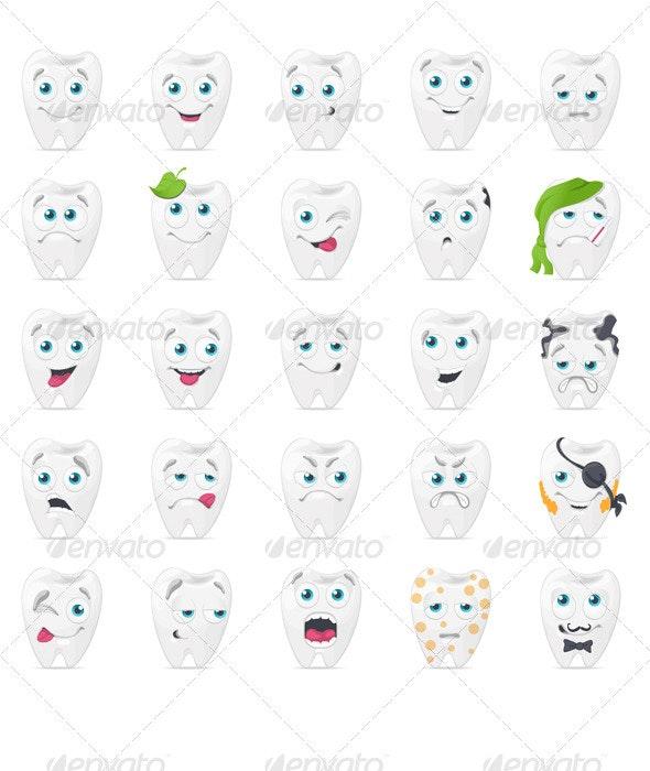 Teeth Characters - Characters Vectors