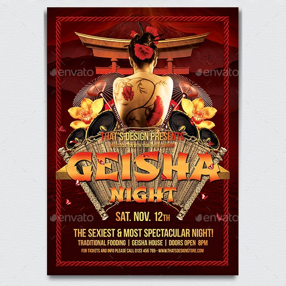 Geisha Night Flyer Template V1