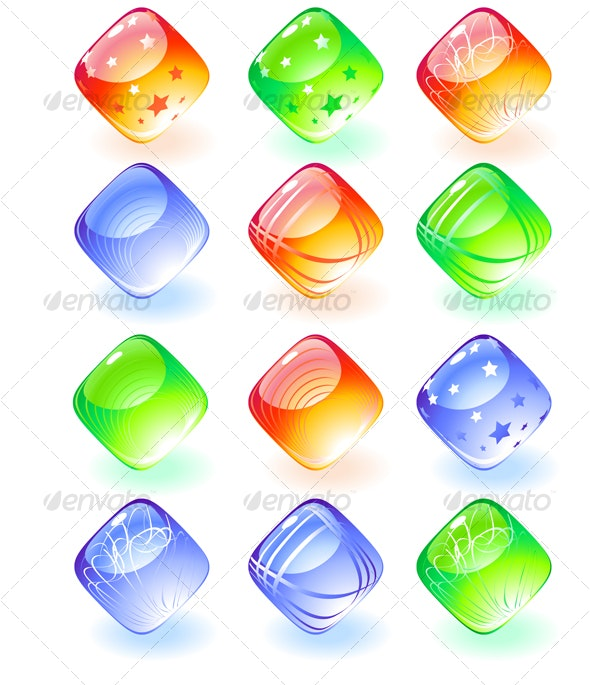 Shiny buttons  - Decorative Symbols Decorative