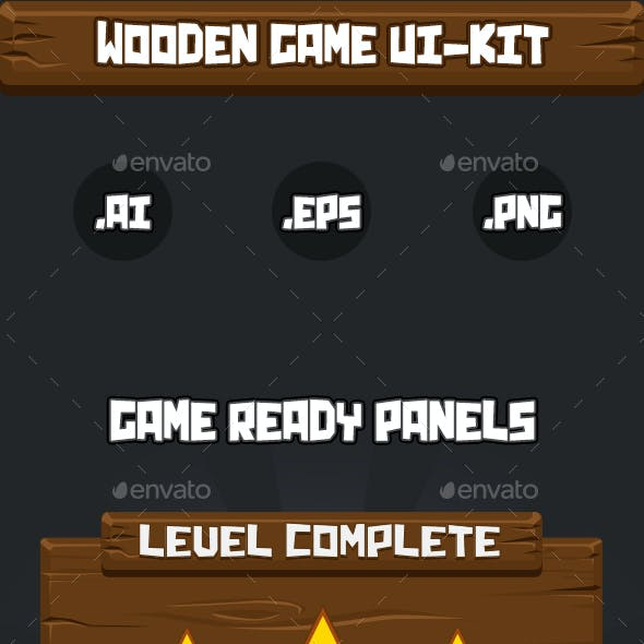 Wooden UI-Kit for 2D Games
