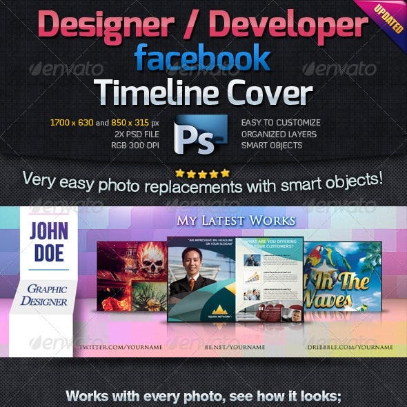 Designer / Developer Facebook Timeline Cover