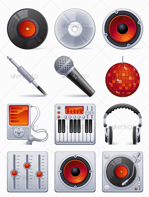 Sound icon set - Media Technology