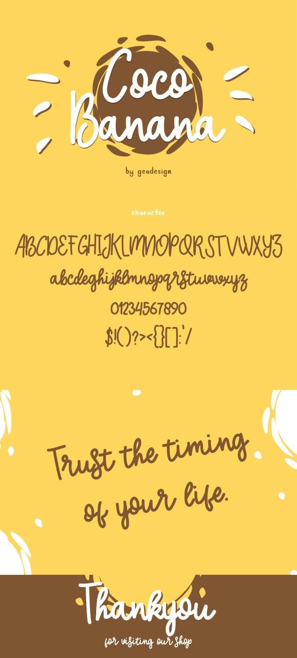 Coco Banana - Hand-writing Script