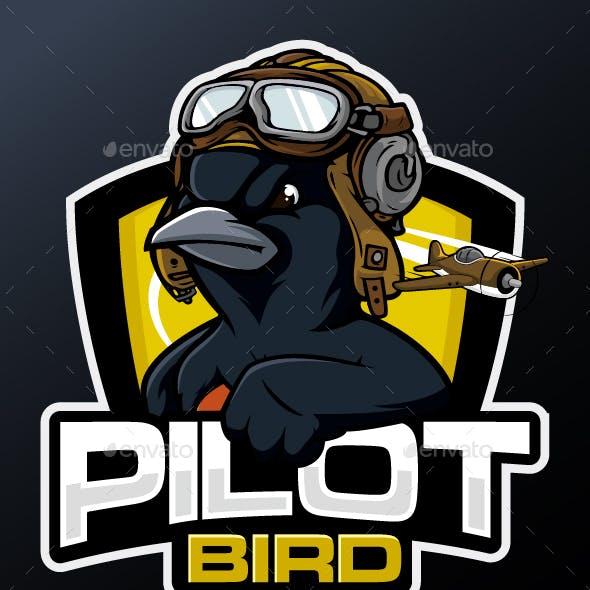 Pilot Bird Esport Mascot logo
