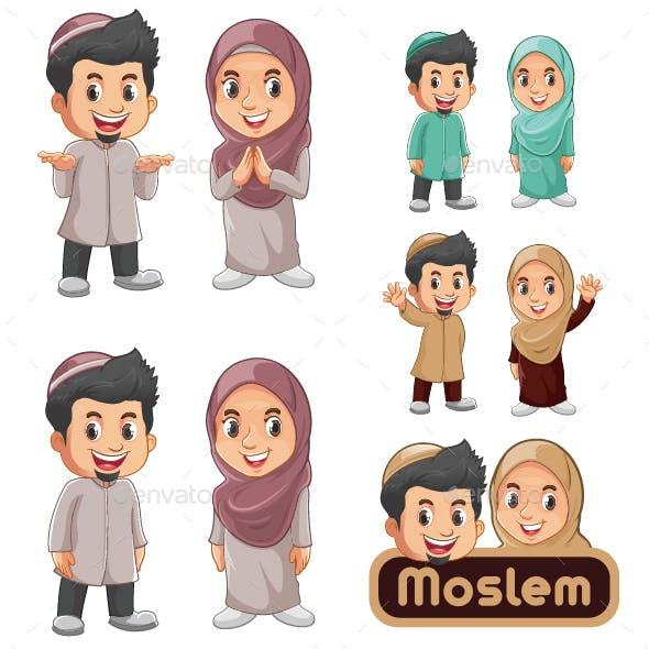 Moslem Characters Mascot
