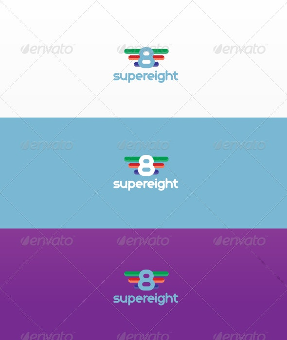 Super Eight - Numbers Logo Templates