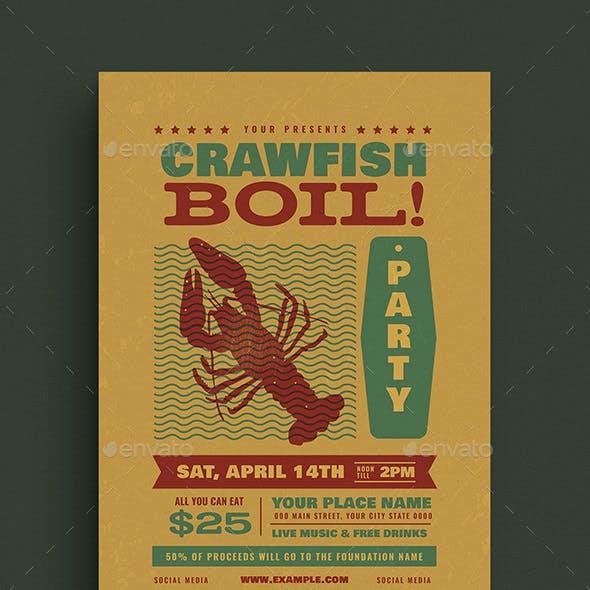 Crawfish Boil Event Flyer