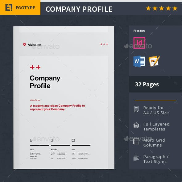 Company Profile Word Graphics, Designs & Templates