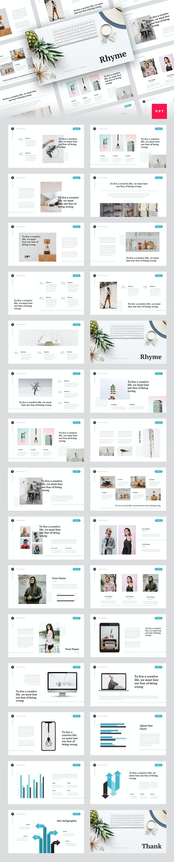 Rhyme - Creative PowerPoint Template - Creative PowerPoint Templates