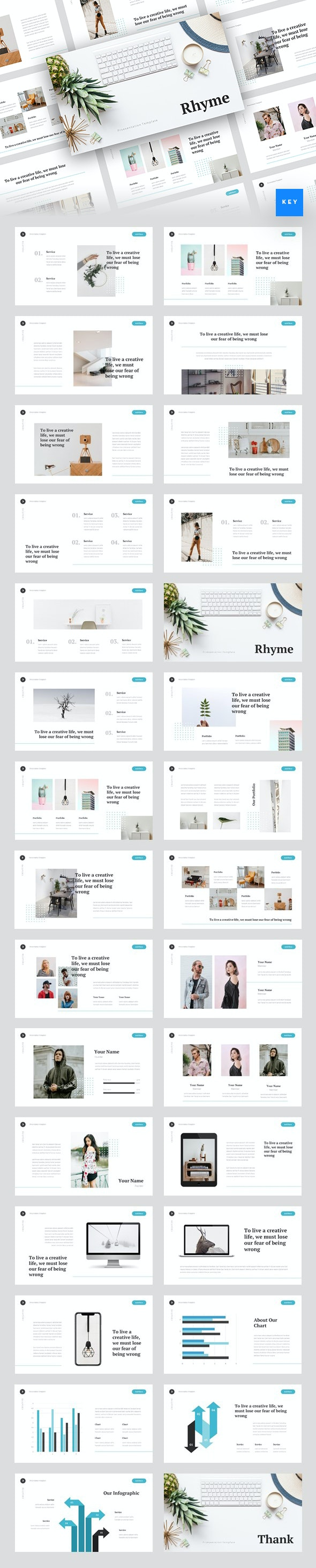 Rhyme - Creative Keynote Template - Creative Keynote Templates