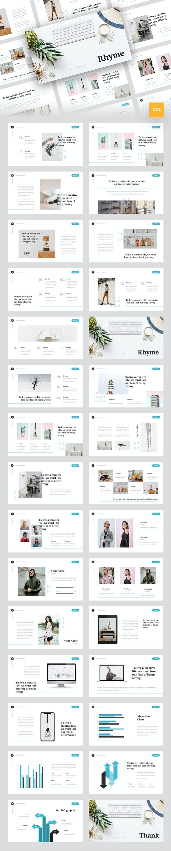 Rhyme - Creative Google Slides Template - Google Slides Presentation Templates