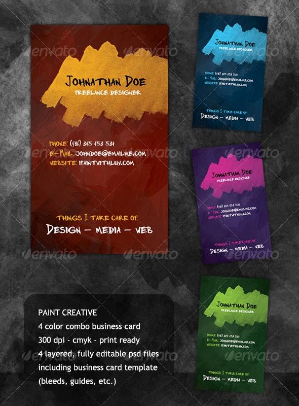 Paint Creative - Creative Business Cards