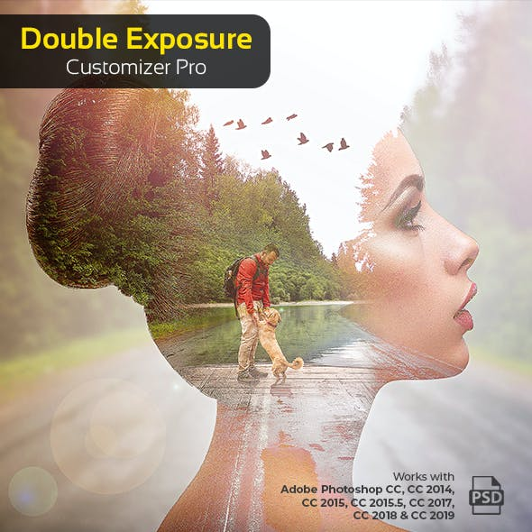 Double Exposure Customizer Pro - Photoshop Action