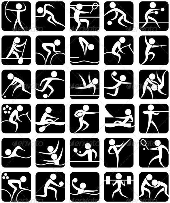 Summer Sports Symbols - Sports/Activity Conceptual