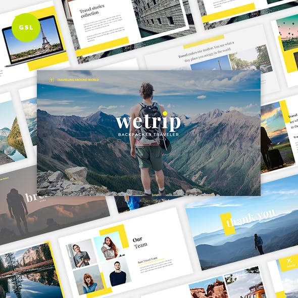 Wetrip - Backpackers Google Slides Template by Graphiqa