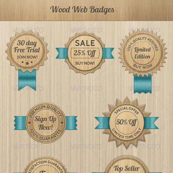Wood Web Badges