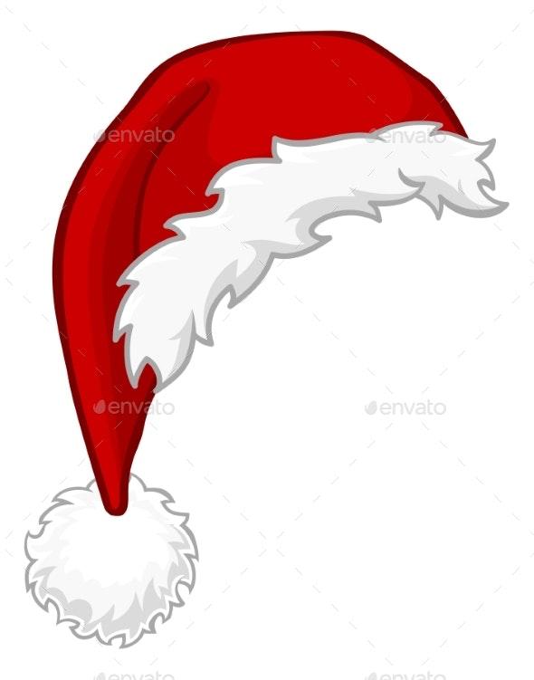 Christmas Hat Cartoon.Santa Hat Christmas Cartoon Design Element