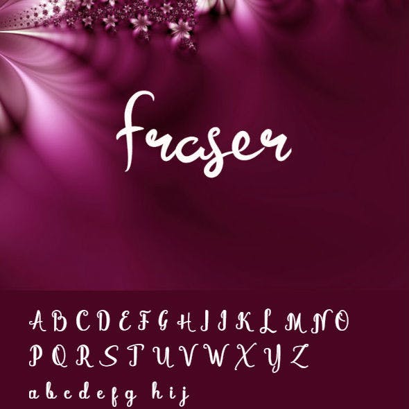 Fraser Font