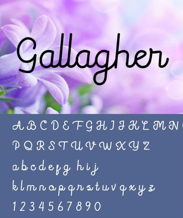 Gallagher Font - Fonts