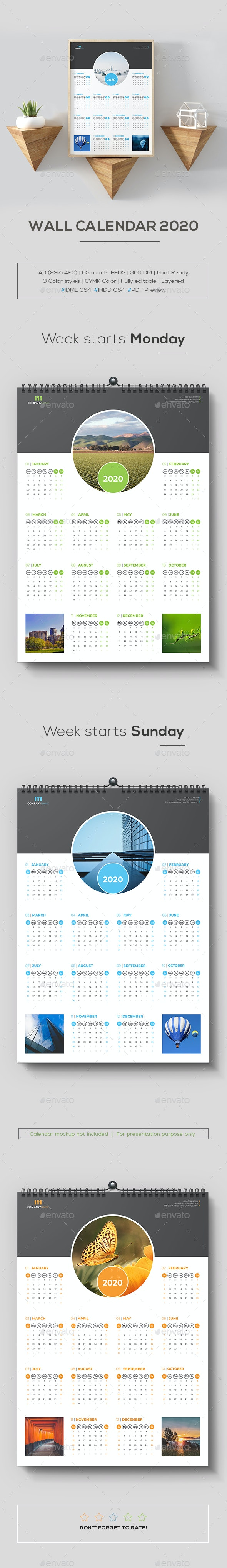 Wall Calendar 2020 - Calendars Stationery