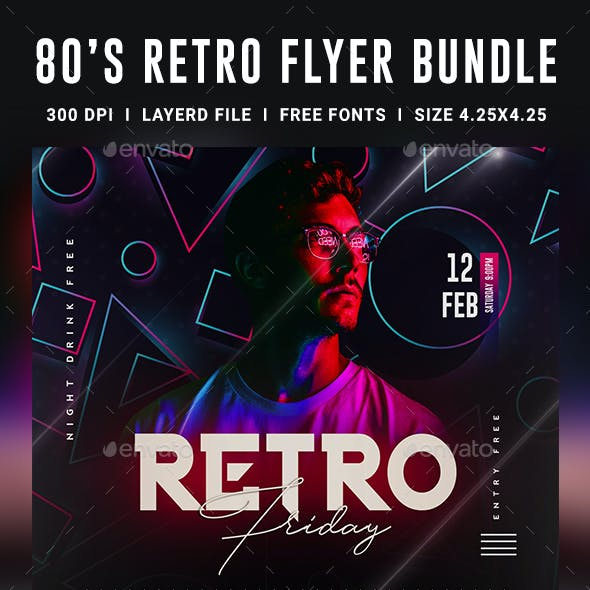 80S Font Graphics, Designs & Templates from GraphicRiver