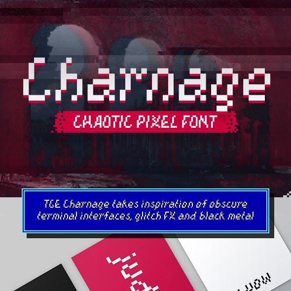 TGE Charnage Chaotic Pixel Font