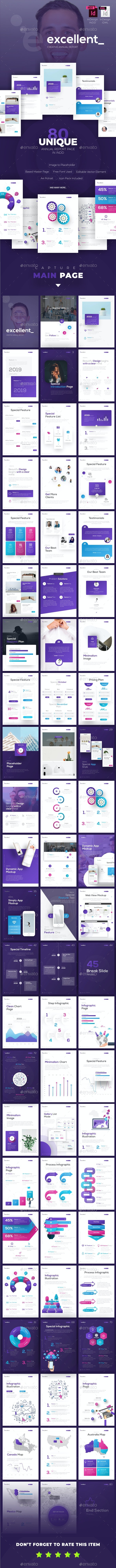 Excellent Creative Annual Report Template - Magazines Print Templates