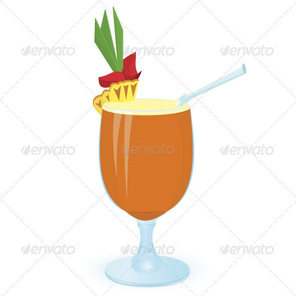 Pineapple cocktail - Food Objects