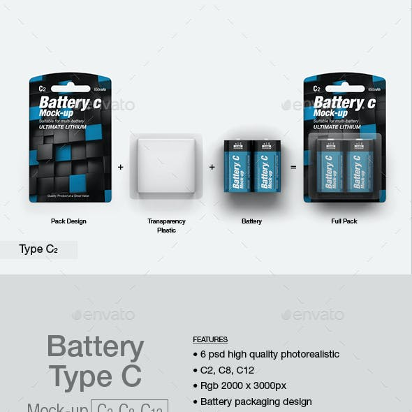 Battery Type C Mock-up