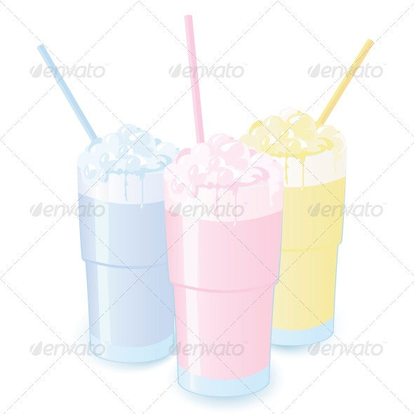 Milkshakes - Food Objects