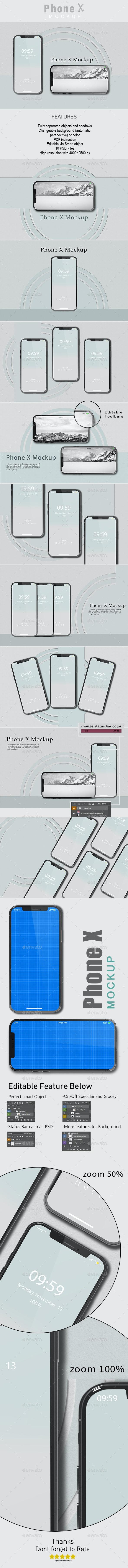 IPhone X Mockup - Mobile Displays