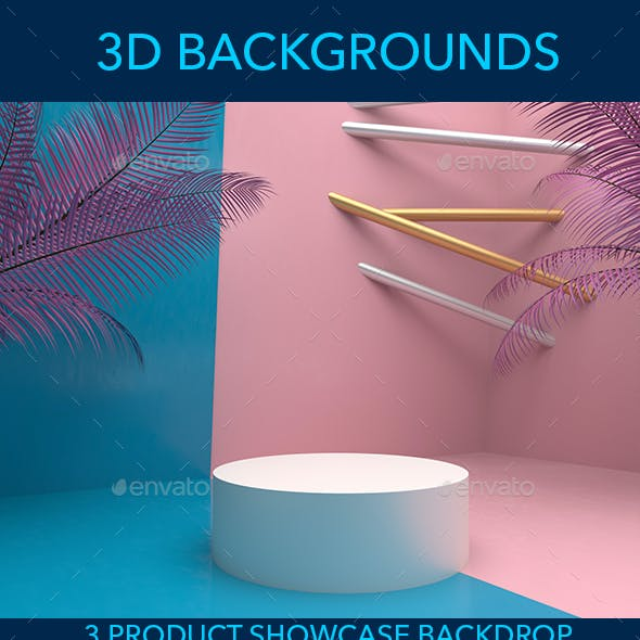Pink and Blue - 3D Background for Product Showcase