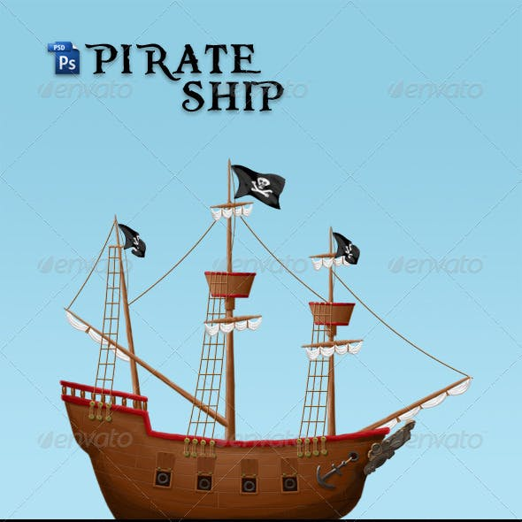 Pirate Ship And Sail Graphics Designs Templates