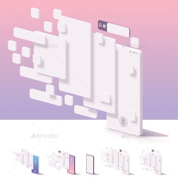 Vector Mobile App User Interface Template
