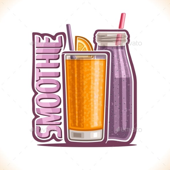 Vector Illustration of Fruit Smoothie