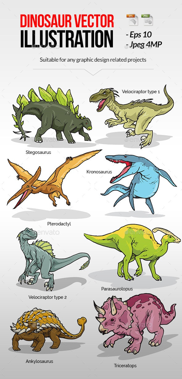 Dinosaur Vector illustration - Animals Characters