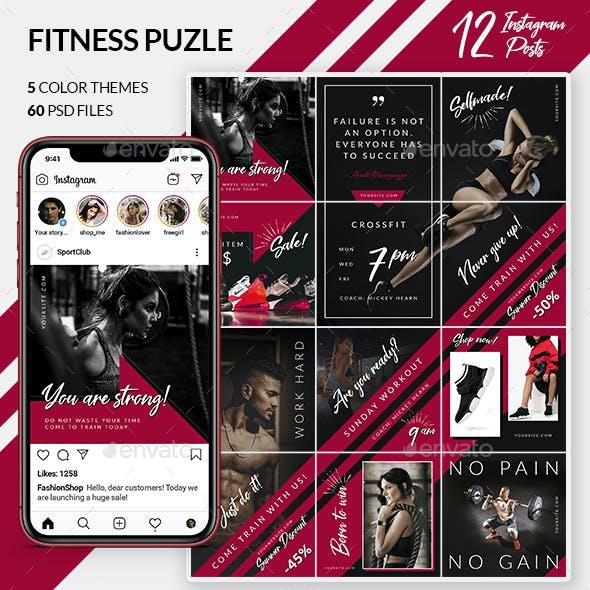 Fitness Puzzle – Instagram Posts