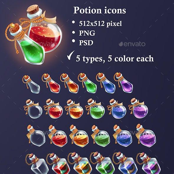 Bottles Potion Icons