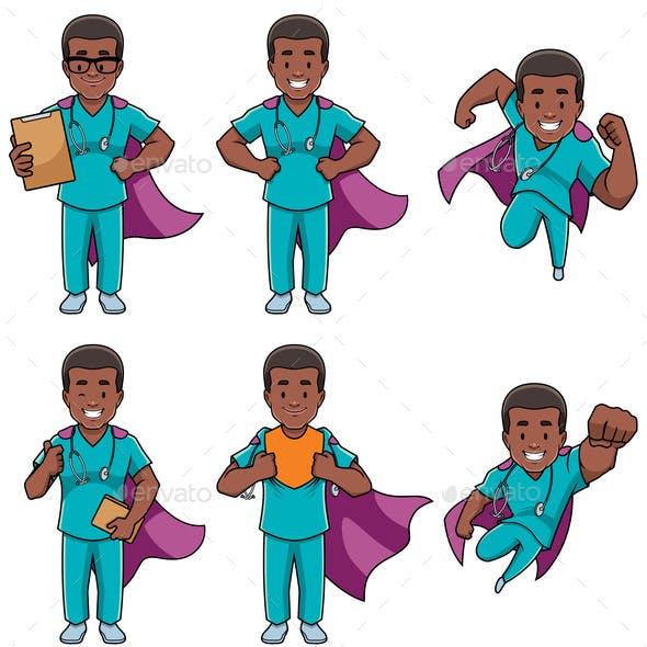Super Nurse African Male Set