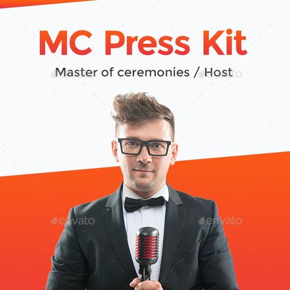 RealMC – Master of Ceremonies / Host Resume / Press Kit PSD Template
