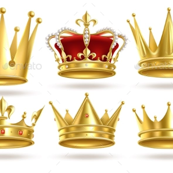 Realistic Golden Crowns