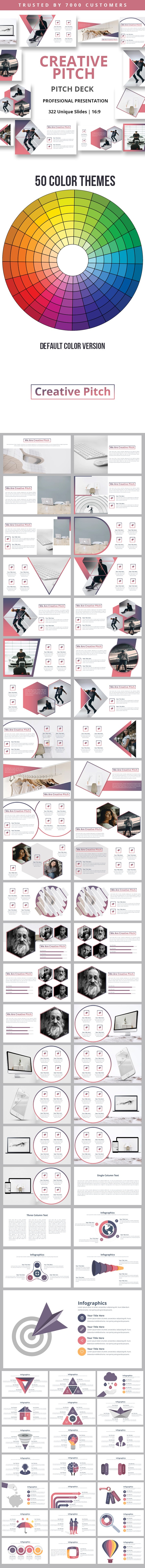 Creative Pitch Google Slides Template - Google Slides Presentation Templates